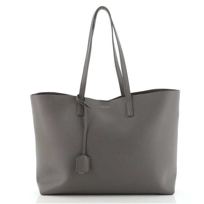Item - Shopper Large Gray Leather Tote