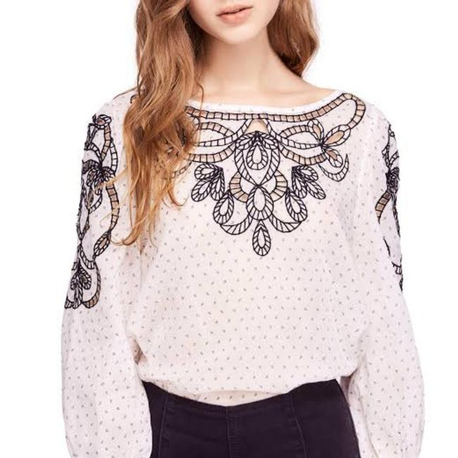 Item - Cream Combo Everything I Know Blouse Size 4 (S)