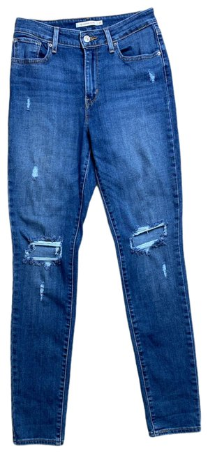 Item - Blue Distressed 721 High Rise Skinny Jeans Size 6 (S, 28)