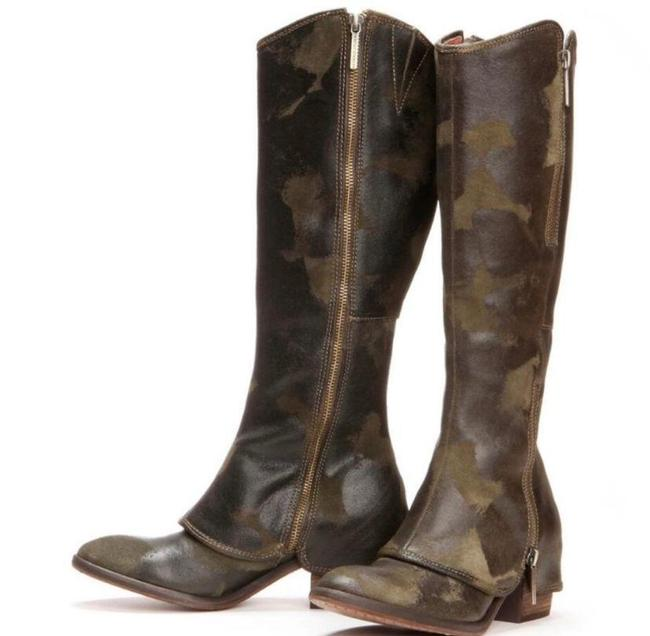 Item - Green Devi Knee High Camouflage Boots/Booties Size US 6 Regular (M, B)