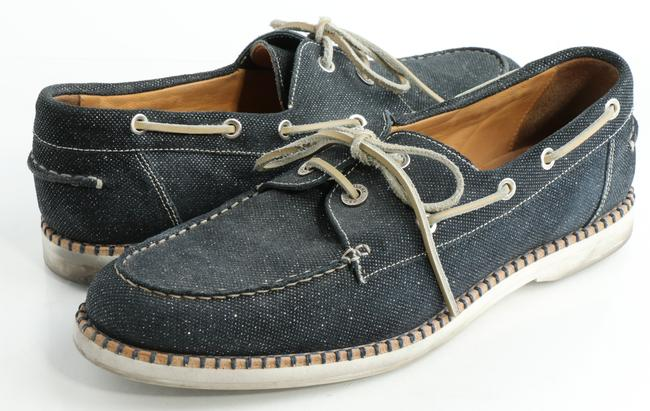 Item - Navy Danby Glitter-suede Boat Shoes