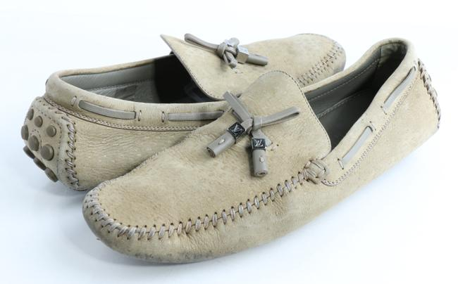Item - Beige Monte Carlo Car Loafers Shoes