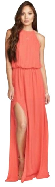 Item - Pink Heather Halter In Hibiscus Casual Maxi Dress Size 12 (L)