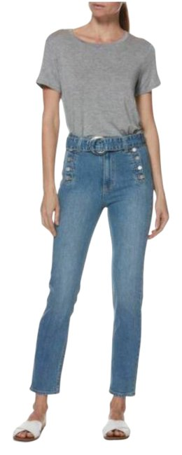 Item - Blue Medium Wash Sarah Slim Exposed Buttons Sailor-inspired Button Straight Leg Jeans Size 30 (6, M)
