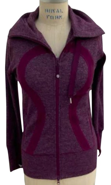 Item - Burgundy Athletica Knit Hooded S?? Activewear Outerwear Size 4 (S)