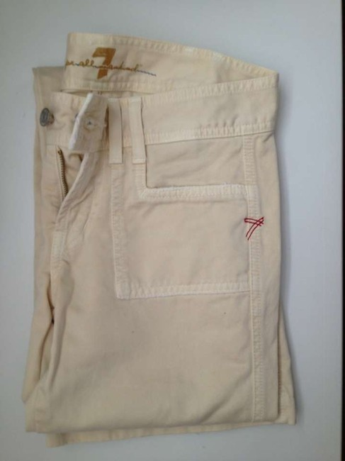 7 For All Mankind Boot Cut Pants Off white
