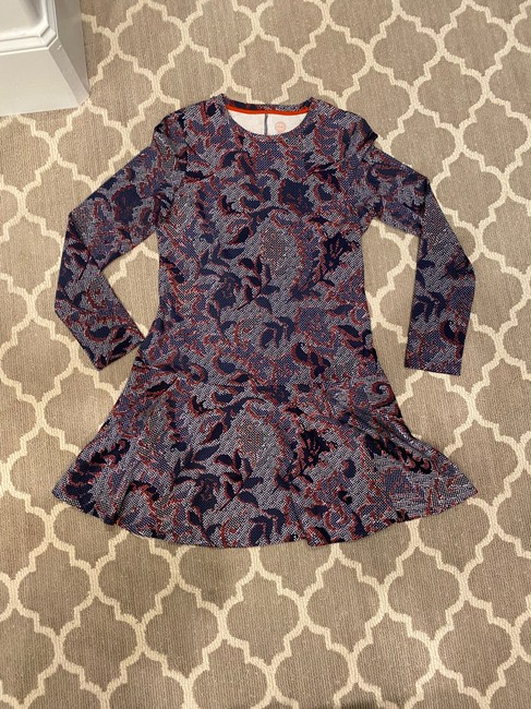 Item - Navy Red and White Drop Short Work/Office Dress Size 8 (M)