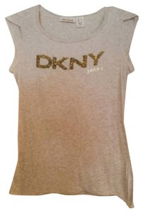 DKNY Logo T Shirt off white