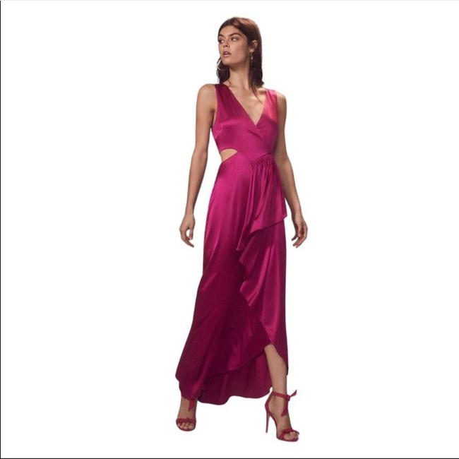 Item - Pink Alc Cantor Cascading Ruffle Magenta Formal Dress Size 2 (XS)