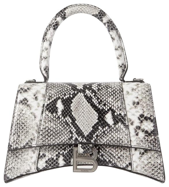 Item - Hourglass Python-effect Leather Tote Cross Body Bag