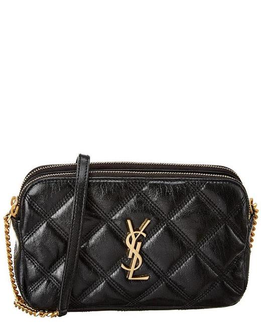 Item - Crossbody New Double Zip Quilted Mini Purse Black Leather Shoulder Bag
