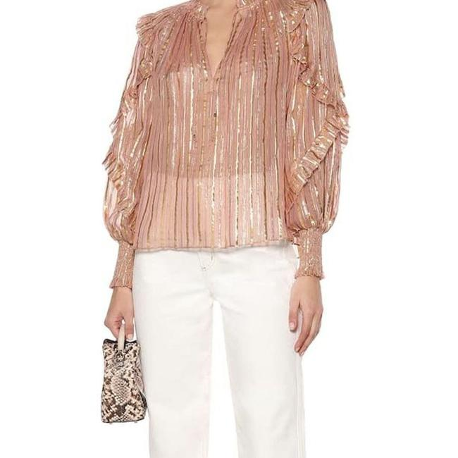 Item - Gold Lucinda Pink Blouse Size 6 (S)