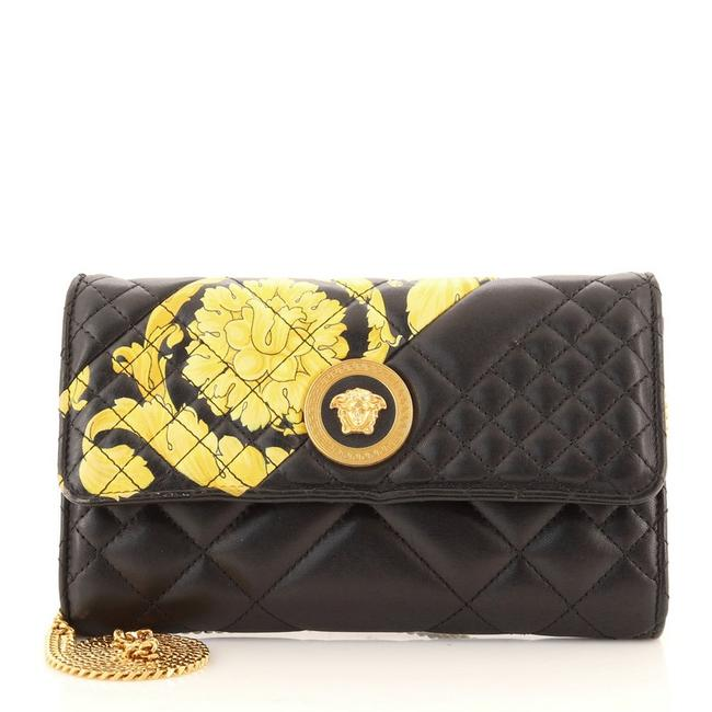 Item - Wallet on Chain Icon Quilted Printed Multicolor Leather Cross Body Bag