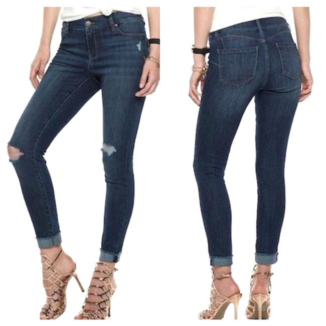 Item - Blue Distressed Ankle Skinny Jeans Size 26 (2, XS)