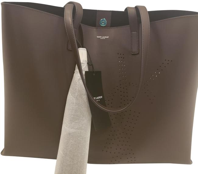 Item - Shopping Perforated Brown Leather Tote