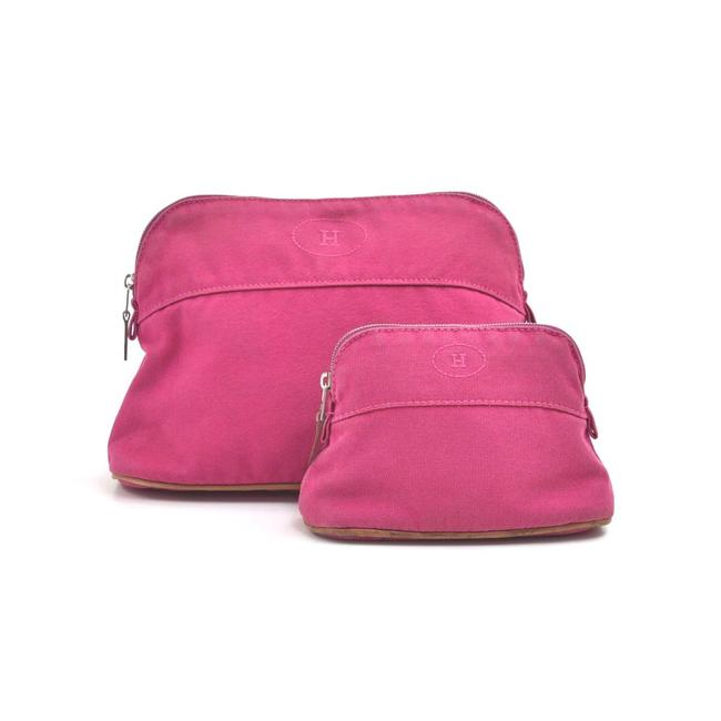 Item - Cosmetic Pouch Bolide Trousse 25 & 15 Set Of 2 Fuchsia Pink Cotton Clutch