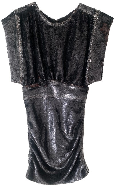 Item - Silver Miracle Anthracite Sequin Mini Short Night Out Dress Size 4 (S)