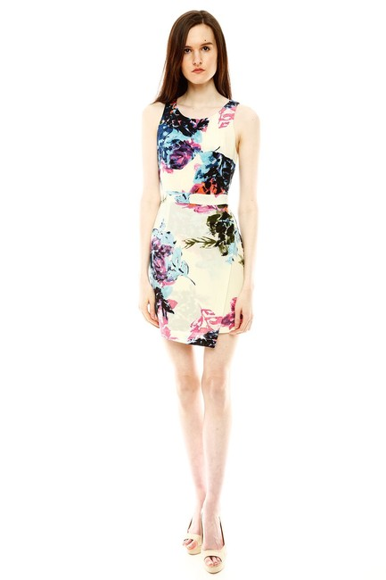 Item - Floral Silk Short Casual Dress Size 4 (S)