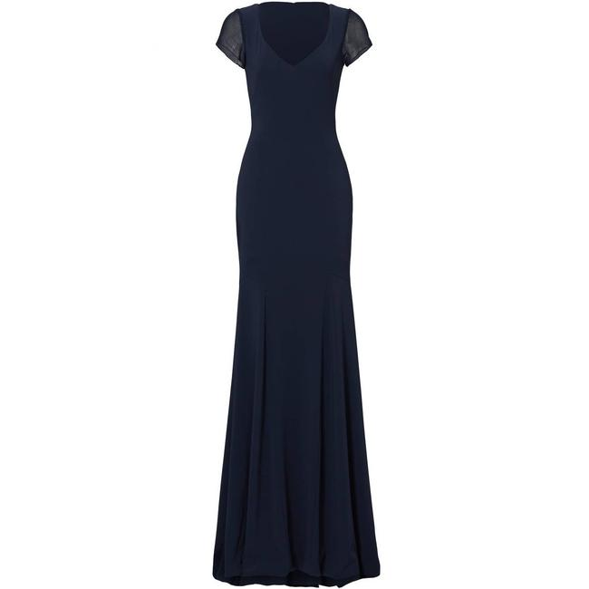 Item - Blue Navy Smooth Mermaid Gown 2p Short Casual Dress Size Petite 2 (XS)
