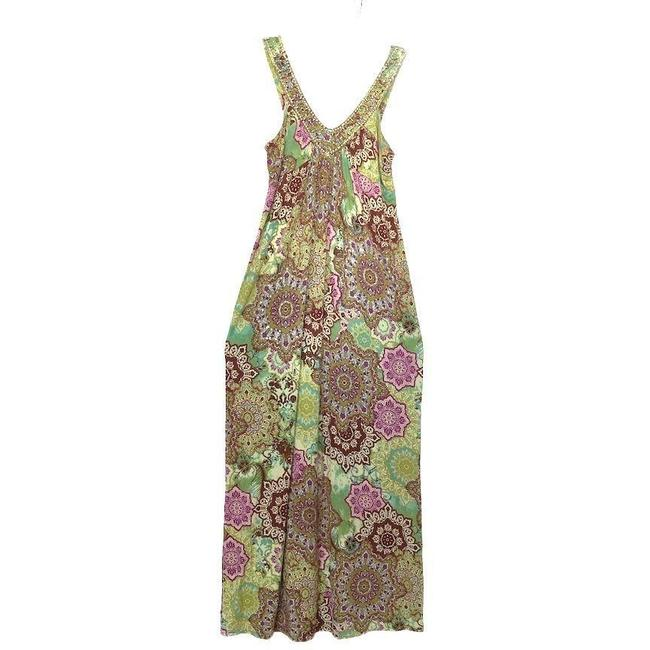 Item - Multicolor Maxi with Floral Print Mid-length Short Casual Dress Size 10 (M)