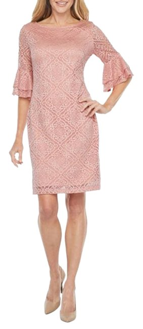 Item - Pink Lace Bell Sleeve Cocktail Dress Size 8 (M)