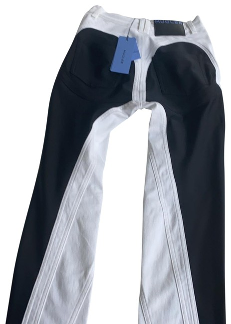 Item - Black and White Spiral Skinny Jeans Size 6 (S, 28)