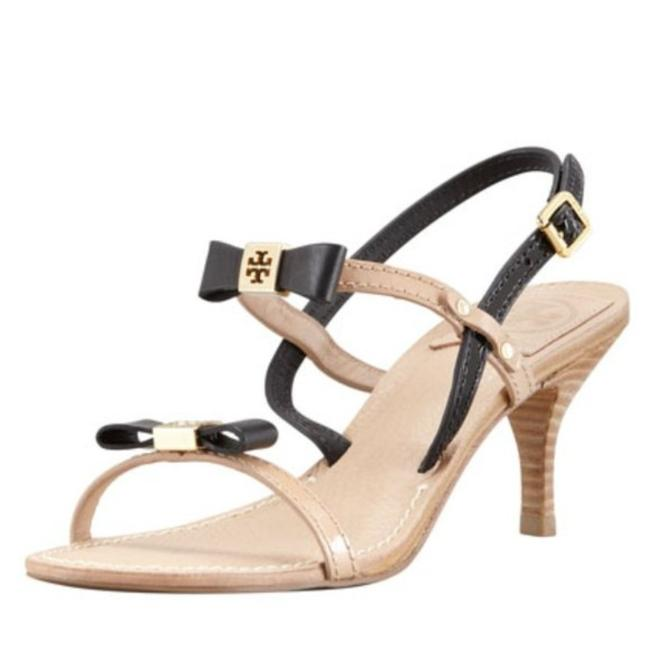Item - Cream Black Kailey Two-tone Bow Heeled Women's Sandals Size US 8.5 Regular (M, B)