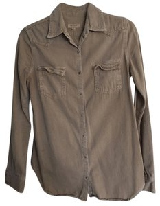Equipment Button Down Shirt Beige