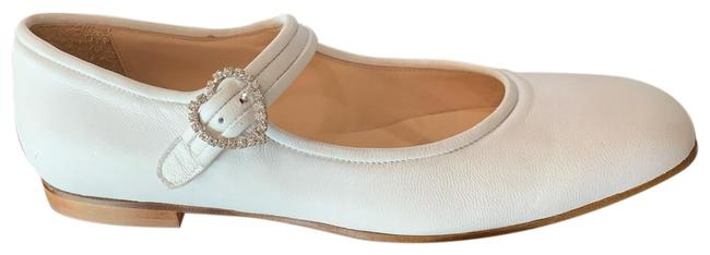 Item - Off White Mary Jane Flats with Embellished Buckle Pumps Size US 10 Regular (M, B)
