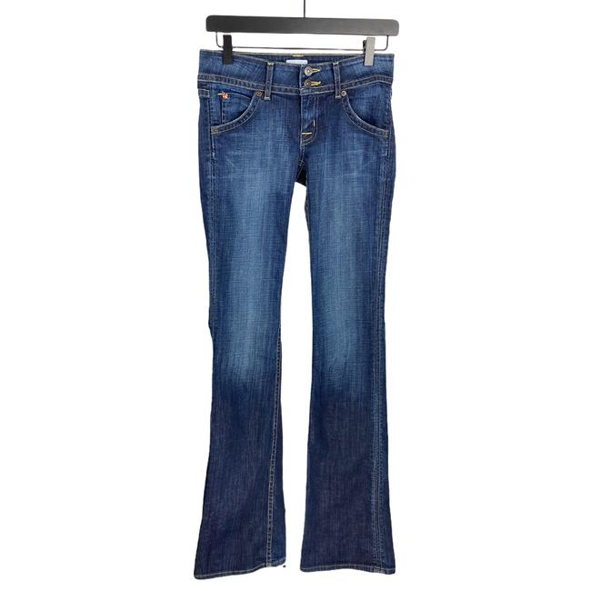 Item - Blue Dark Rinse Wash Double Button Boot Cut Jeans Size 25 (2, XS)