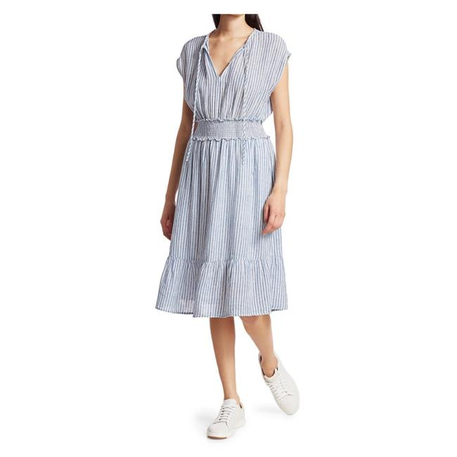 Item - Blue and White Ashlyn Mid-length Casual Maxi Dress Size 12 (L)