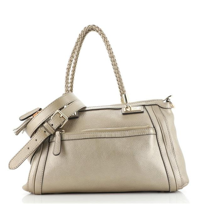 Item - Top Handle Bag Bella Convertible Gg Canvas Small Gold Leather Tote