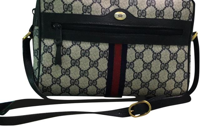 Item - Accessory Collection Navy Blue Signature Canvas Cross Body Bag