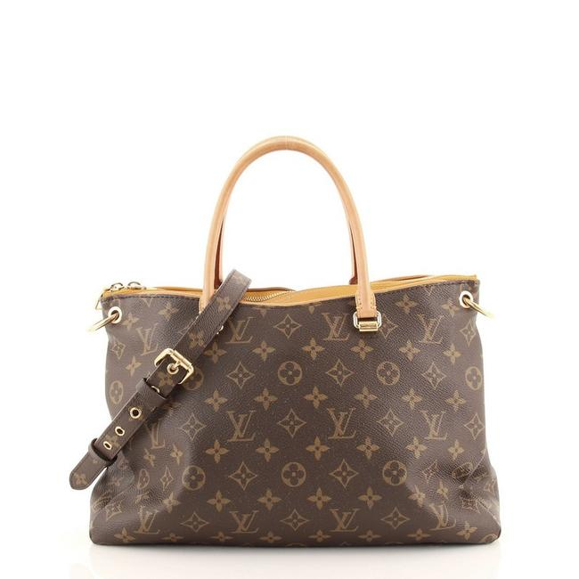 Item - Pallas Monogram Brown Yellow Canvas (Coated) Leather Tote