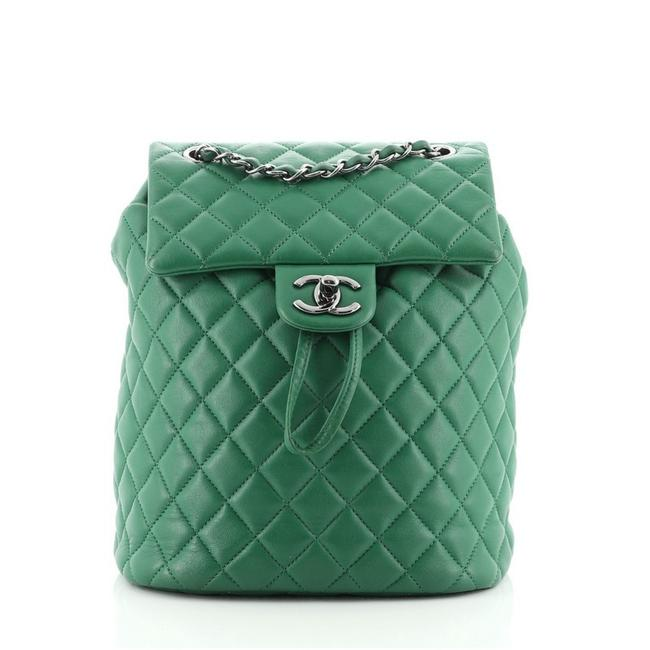 Item - Spirit Quilted Lambskin Small Green Leather Backpack