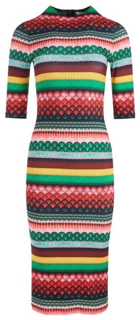 Item - Multicolor Nwt- and Delora Fitted Mock Neck Midi Collection 2021 Mid-length Night Out Dress Size 2 (XS)
