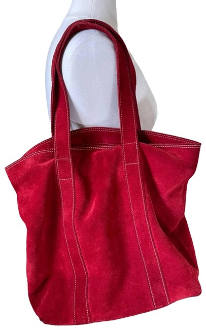 Item - Bag Boho Chic Suede Red Tote
