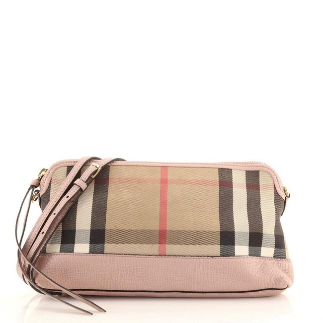 Item - Clutch Abingdon Convertible House Check Small Brown Multicolor Pink Canvas Plain Leather Cross Body Bag