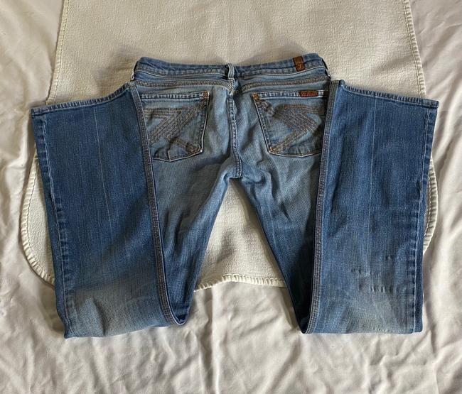 Item - Blue Distressed Flynt Straight Leg Jeans Size 6 (S, 28)