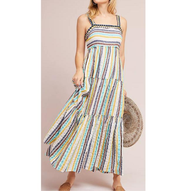 Item - Multicolor Postmark Tianna Striped Tiered Long Casual Maxi Dress Size 10 (M)
