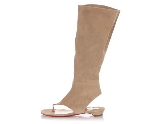 Item - Beige Suede From Sand Flat Boots/Booties Size EU 37.5 (Approx. US 7.5) Regular (M, B)