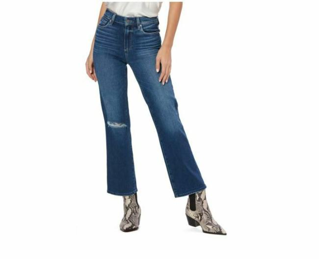 Item - Blue Medium Wash Vintage Atley High Waist Ripped Ankle Flare Skinny Jeans Size 28 (4, S)
