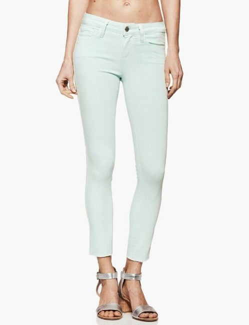 Item - Green Light Wash Verdugo Crop Mid Rise Ultra In Vintage Sea Breeze Skinny Jeans Size 29 (6, M)