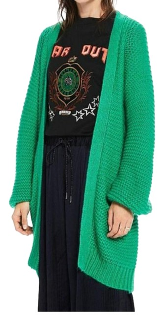 Item - Green Fluffy Small Cardigan Size 4 (S)