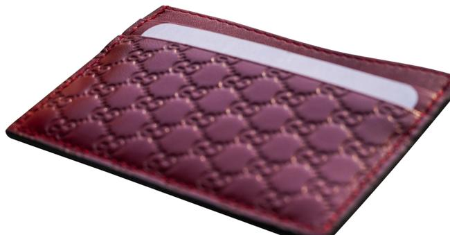 Item - Red Microguccissima Card Holder Wallet