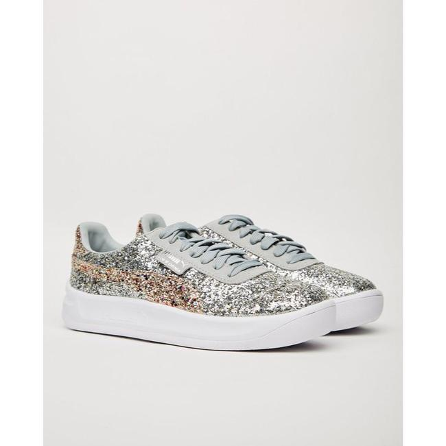 Item - Silver and Gold Leather California Glitz Glitter Sneakers Size US 8.5 Regular (M, B)