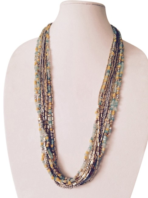 Kenneth Cole Yellow/Turquoise/Silver/Gold Long Necklaceonly Matching Pieces Seperately. Kenneth Cole Yellow/Turquoise/Silver/Gold Long Necklaceonly Matching Pieces Seperately. Image 1