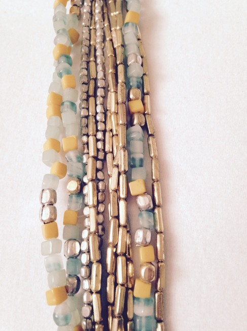 Kenneth Cole Yellow/Turquoise/Silver/Gold Long Necklaceonly Matching Pieces Seperately. Kenneth Cole Yellow/Turquoise/Silver/Gold Long Necklaceonly Matching Pieces Seperately. Image 2