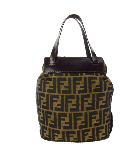 Item - Vintage Zucca Monogram Leather Rollup Brown Canvas Tote