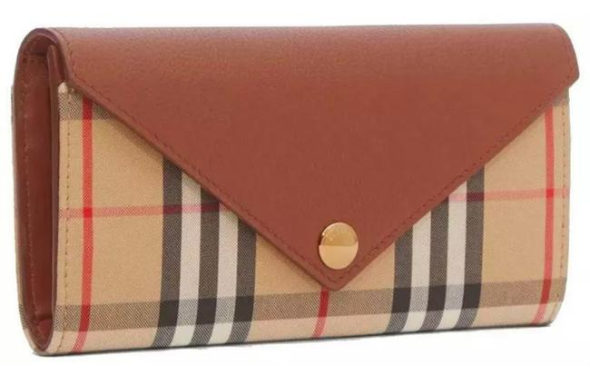 Item - Beige Tan Clutch New Current Vintage Check Grainy Leather Long Continental Wallet